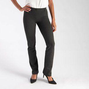 Betabrand Charcoal Dress Pant Yoga Straight Leg